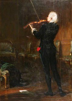 A Song without Words John Pettie (Scottish, Oil on canvas. A view of a musician playing a violin to a room of empty chairs and wooden panelled walls. Master Studies, Manchester Art, Art Uk, Renaissance Art, Art Music, Character Concept, Dark Art, Art History, Oil On Canvas