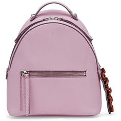 Fendi Mini Swarovski Crystal-Accented Backpack (3,346 CAD) ❤ liked on Polyvore featuring bags, backpacks, fendi, apparel & accessories, lavender, fendi backpack, multi pocket backpack, strap backpack, leather bags and mini leather backpack