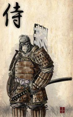 Gorilla Samurai by tomisaburo.deviantart.com on @DeviantArt