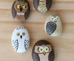 Get creative with these DIY painted rocks. From mandala rocks to easy painted rock crafts for kids, there are plenty of ideas for inspiration. Owl Crafts, Kids Crafts, Arts And Crafts, Summer Crafts, Beach Crafts, Canvas Crafts, Crafts For The Home, Fun Crafts To Do, Seashell Crafts