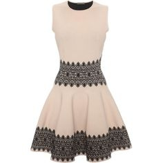 Alexander McQueen Lace Circle Jacquard Mini Dress ($878) ❤ liked on Polyvore featuring dresses, vestidos, short dresses, robes, short lace cocktail dress, jacquard dress, pink lace dress, alexander mcqueen and alexander mcqueen dresses
