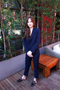 Dakota Johnson at a How To Be Single press conference