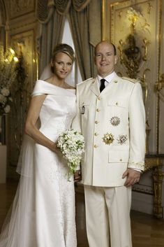 Portrait of the Monaco  nuptials