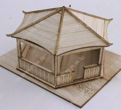 Wooden Chinese Liujiaoting building model houses Miniature House Miniature model aircraft assembly kit D127