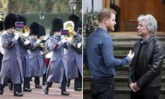 The Queen's Guards play Jon Bon Jovi medley during Changing of the Guard to celebrate Prince Harry's collaboration with the rockstar Jon Bon Jovi Songs, Bon Jovi Always, Queens Guard, Invictus Games, Prinz Harry, Latest Instagram, Prince And Princess, Famous Celebrities, Duke And Duchess