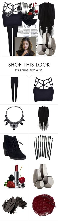 """Aria Montgomery style outfit"" by beth-mustoe on Polyvore featuring Giorgio Armani, Soaked in Luxury, Clarks, Revolution, Clinique, Cyan Design and Bobbi Brown Cosmetics"