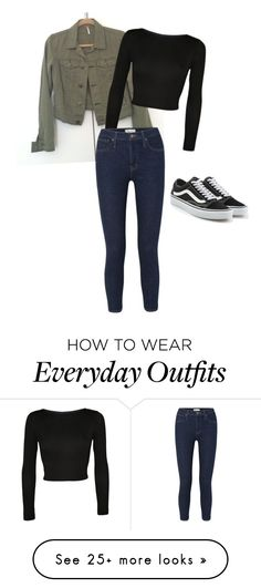 """""""Simple everyday outfit"""" by mayaparrish on Polyvore featuring WearAll, Madewell and Vans"""