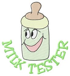 Milk Tester embroidery design