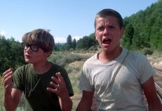 Corey Feldman and River Phoenix in Stand By Me (1986)