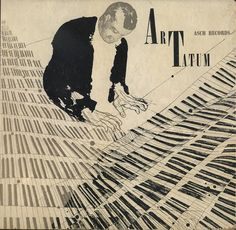 LP - Art Tatum 1944 | graphic design illustration by David Stone Martin | jazz album cover art