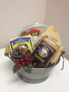 Gift Basket, Soup And Salad, Cows, Cheddar, Oatmeal, Salads, Christmas Gifts, Diy Crafts, Cheese