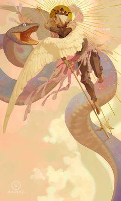 "awanqi illustration — ""Dominion"" My thesis continues! Art And Illustration, Arte Inspo, Kunst Inspo, Fantasy Kunst, Fantasy Art, Art Sketches, Art Drawings, Angel Art, Aesthetic Art"