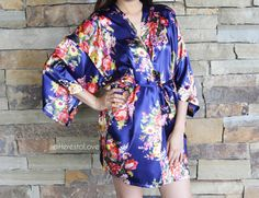Bridesmaid Floral Robes. Floral bridesmaid robe by HeresToLove
