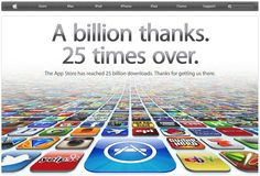 Apple's App Store today reached 25 billion downloads since its inception in 2008