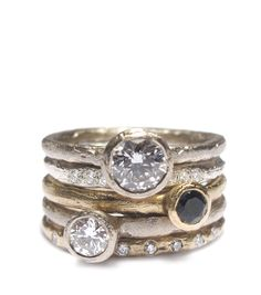 Diana Porter : Gold, diamond and tourmaline engagement and wedding rings