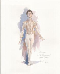 """Cavalier Sketch by Robert Perdziola """"costume sketches"""""""