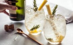 Pineapple Rosemary Crush Cocktail // Don't forget about the booze! #holiday #cocktail #recipe