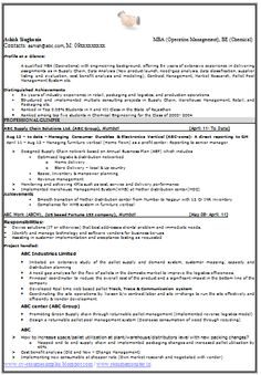 Example Template Of Excellent Fresher B Tech Resume Sample
