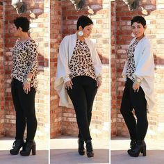 MiMi G leopard shirt & DIY Sweater