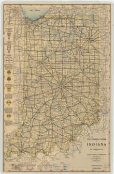 Map of the Indiana State Highway System February 1933 :: Indiana State Library Map Collection