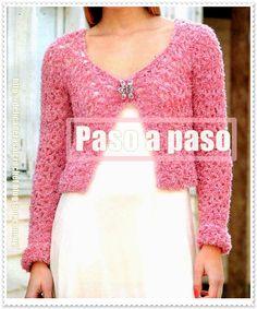 Delicadezas en crochet Gabriela: Bolero paso a paso