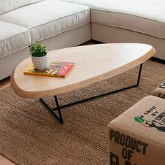 The Hull Coffee Table Features A Thick Solid Ash Top With Beveled Edge And An Organic Shape That Evokes Of Ship
