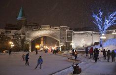 Quebec City lights | Christmas In Quebec City Canada Decoration Lights Night - AxSoris.com