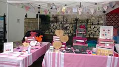 Gorgeous picture of Pinky Bear Designs stall layout, lots of great display ideas used. www.pinkybeardesigns.co.uk