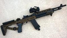 Вad ass little mini 14 Military Weapons, Weapons Guns, Guns And Ammo, Military Life, Rifles, Fulmetal Alchemist, Mini 14, Battle Rifle, Custom Guns