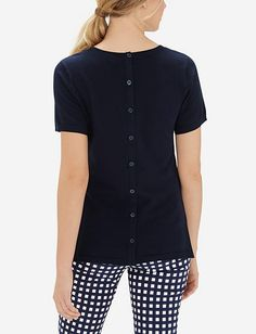 Button Back Sweater Tee