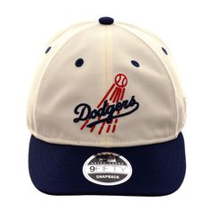 watch 6a40a 241ef Exclusive New Era 9Fifty Los Angeles Dodgers Retro Crown Script Snapback Hat  - 2T White, Royal