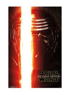"""<p>Poster from <i>Star Wars: The Force Awakens</i> with a Kylo Ren portrait design.</p>  <ul> <li>24"""" x 36""""</li> <li>Imported</li> </ul>"""
