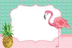 Flamingo Party, Flamingo Birthday, Cute School Supplies, Tropical Party, Printable Designs, Pink Flamingos, Birthday Invitations, Party Themes, Doodles
