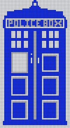 Tardis Doctor Who perler bead pattern