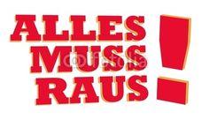 ALLES MUSS RAUS! - Schild, hochauflösende Grafik, für Ausverkauf, Sale, Angebote,... Fotolia