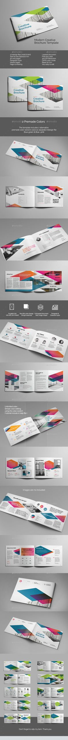Buy Modern Creative Brochure by samurichan on GraphicRiver. Modern Creative Brochure template, Can use for any personal or corporate, This layout is suitable for any project pur. Creative Brochure, Brochure Design, Brochure Template, Stationery Design, Creative Business, Branding Design, Print Layout, Layout Design, Print Design