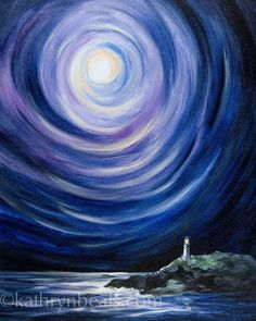 Theme Galaxy, Art Amour, Pics Art, Love Art, Painting Inspiration, Painting & Drawing, Moon Painting, Landscape Paintings, Landscape Drawings