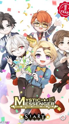 Mystic Messenger is 1 Year Old♡♡♡♡♡♡ HAPPY B DAY GUYS