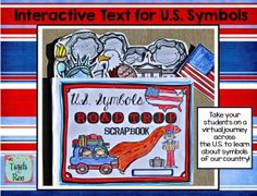 """Learning about Symbols of the United States has never been so much fun! Interactive pages make this """"scrapbook""""  a keeper!"""