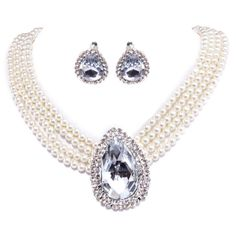 The gorgeous pearl alloy marriage necklace