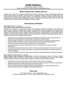 cover letter for market research analyst resume httpwwwresumecareer