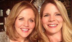 Renee Fleming (l) with Kelli O'Hara  looking forward to The Merry Widow at The Metropolitan Opera.