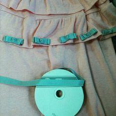 handmade skirt ribbon  pink