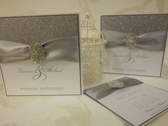 Stunning Couture Sparkle Wedding Invitation by SFDStudio on Etsy, £6.25
