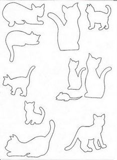 Cat silhouette and like OMG! get some yourself some pawtastic adorable cat shirts, cat socks, and other cat apparel by tapping the pin! Cat Applique, Applique Patterns, Quilt Patterns, Applique Templates, Cat Crafts, Wire Crafts, Paper Crafts, Cat Quilt, Cat Silhouette