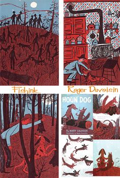 Roger Duvoisin Mid-Century Illustrator Part 2 Roger Duvoisin, Children's Book Illustration, Illustration Styles, Book Of Kells, Encaustic Painting, Chalk Pastels, Illuminated Letters, Wood Engraving, Linocut Prints