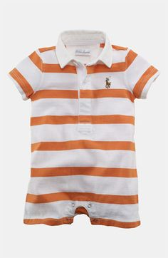 2ec1444e5 Ralph Lauren Stripe Romper (Infant) available at  Nordstrom Toddler Boy  Outfits