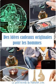 Gift ideas for men - Idées cadeaux pour les hommes Out of gift ideas for a man? Here is full of original and fun objects. Pinterest Gift Ideas, Panne, Blog, Fun, Gifts, Voici, Idea Man, Man Birthday, Ainsi