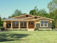metal home floor plans oklahoma | The Rancho La Linda II with Metal Accents (Opt.) With Opt. Woodgrain ...