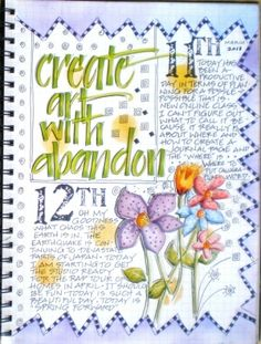 garden journal page by art by kim :)